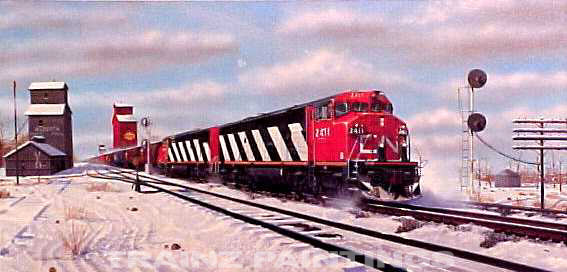 Robert West 128 CN 'Dashing through the Snow' Railroad Art Print - AP