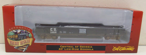 Ertl 1382 HO Scale Central of GA Low Side Gondola