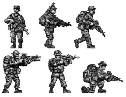eureka miniatures 100MOD060 U.S. Marines Recon Team (Pack of 7)