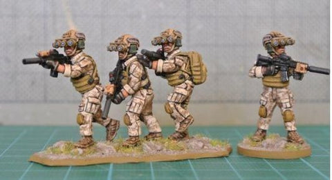 eureka miniatures 100MOD62A Navy Seal Team 2nd Set (Pack of 7)