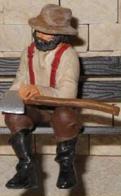 Just Plain Folk 3872 G Farmer with an Axe
