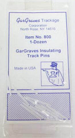 Gargraves 800 Gargraves Insulating Track Pins (Pack of 12)