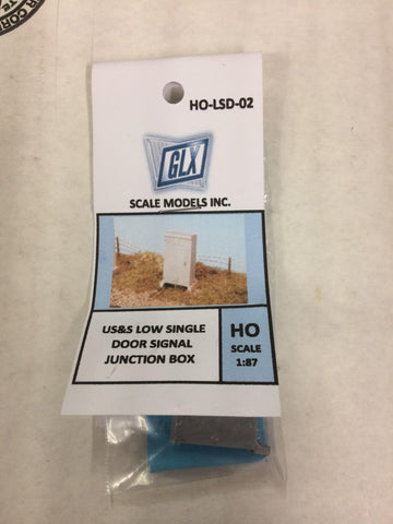 Scale Models INC. HO-LSD-02 US&S Low Single Doors Signal Junction Box