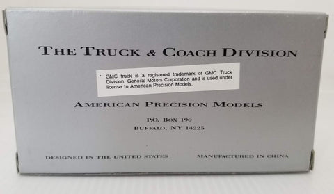 American Precision Models 390004 HO Transit Bus GM