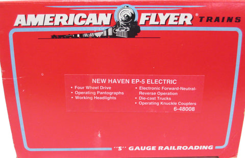 American Flyer 6-48008 S Scale New Haven EP-5 Powered Electric Locomotive