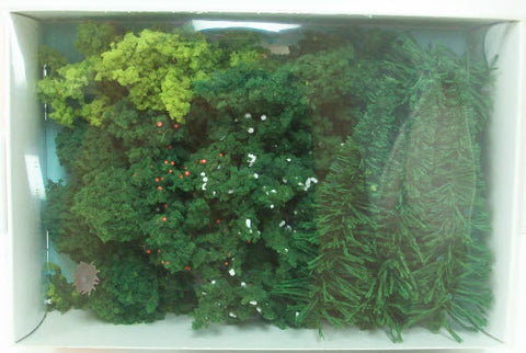 "Heki 304 Assorted Trees 3""-5"" Tall (Pack of 24)"