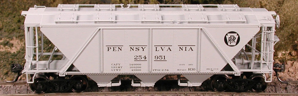 "Bowser 40944 HO  Pennsylvania ""Gray"" H-30 3-Bay Covered Hopper Car #254953"