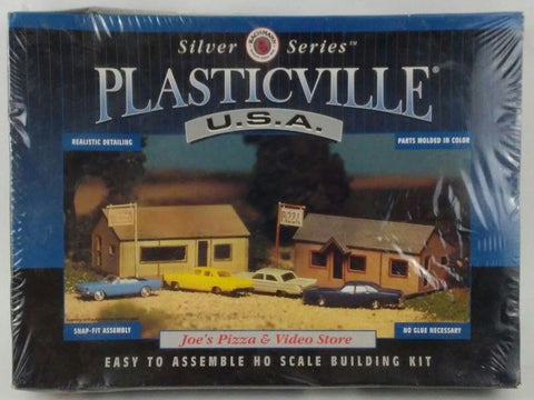 Plasticville 45526 HO Joe's Pizza & Video Store Building Kit