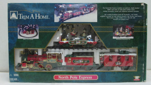 "New Bright ""Trim a Home""  North Pole Express Music Christmas Train Set"