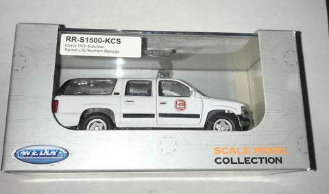 Welly Diecast RR-S1500-KCS Chevy 1500 Suburban Kansas City Southern Railroad
