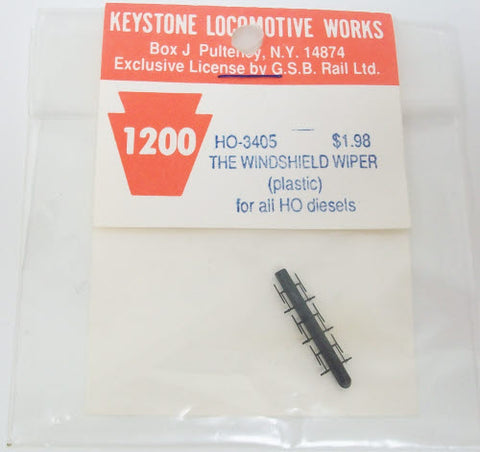 Keystone 3405 HO Scale Windshld Wiper Plastic