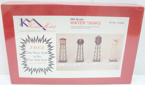 Korber 4-12528 HO Scale 4-Water Tank Kit Special