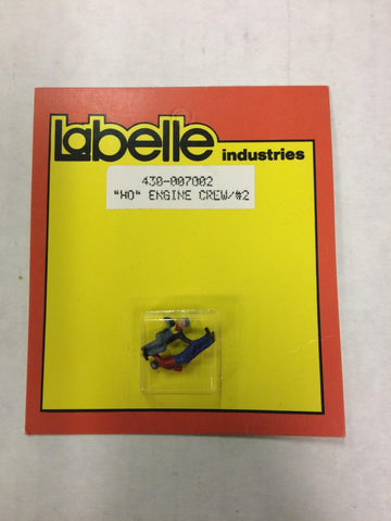 LaBelle 430-007002 HO Scale Engine Crew (2)