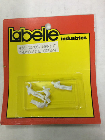LaBelle 430-007004 HO Scale Unpainted Engine Crew (4)