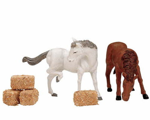Lemax 12511 Lemax Christmas Figurine: Feed for the Horses, Set of 6