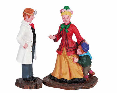Lemax 62295 Figurines The Doctor Appointment Set of 2