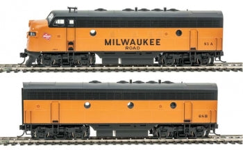 Walthers 910-19929 HO Milwaukee EMD F7 A-B Set - ESU Sound and DCC #81A #68B