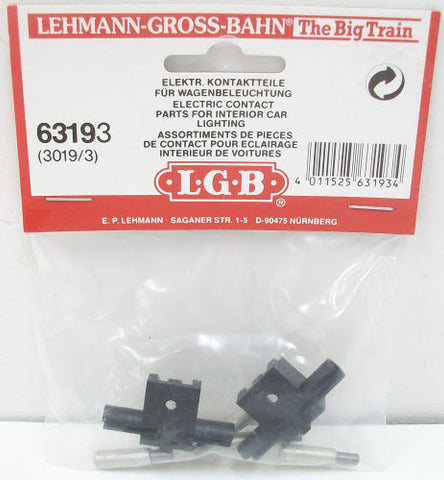 LGB 63193 Brushes/Electrical Contacts for Interior Car Lighting (2) NIB