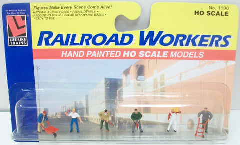 Life Like 1190 HO Railroad Workers Hand Painted Figures (Set of 6)