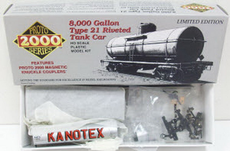 Proto 2000 8256 Life Like HO Kanotex Tank Car Kit