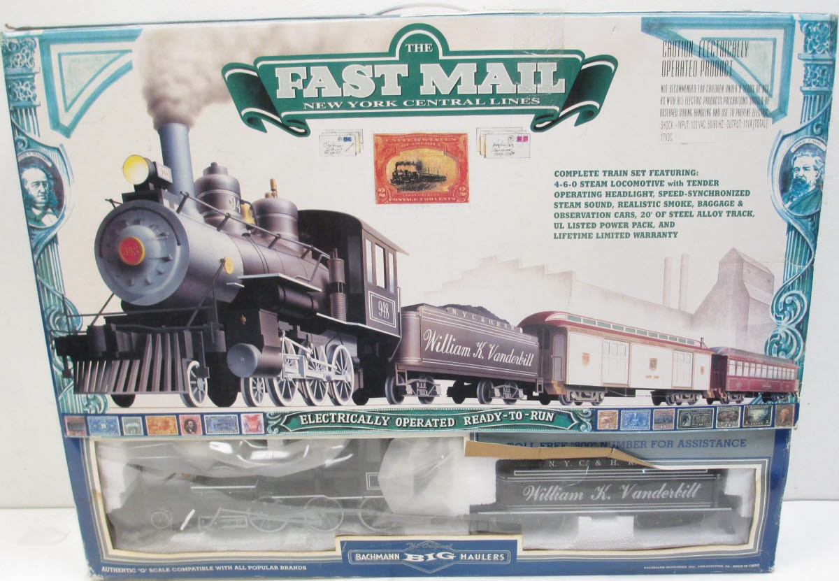 Bachmann 90086 G Scale New York Central Fast Mail Steam