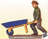 Aristo-Craft 60070 Worker with Wheelbarrow Figure