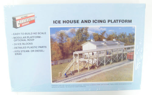 Walthers 933-3049 HO Icehouse and Platform Building Kit