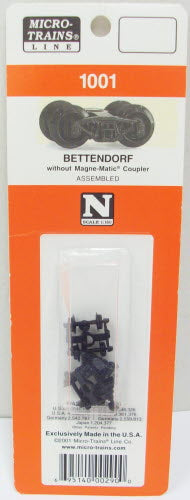 MicroTrains 1001 N Bettendorf Trucks (Pr)-No Coupler
