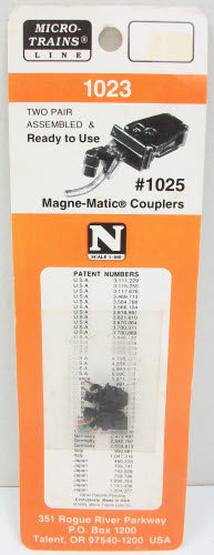 MicroTrains 1023 N Scale Magne-Matic Couplers (2 Pairs of 2)