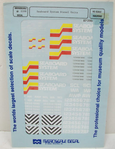 Microscale Decals #87-1462 Various RR Trailers Assorted Ghost Lettering HO Scale