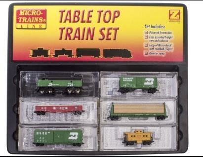 MicroTrains 99403190 Desk Top Trn Set F7 BN
