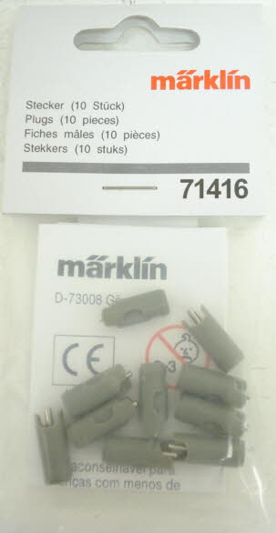 Marklin 71416 Gray Plugs (Pack of 10)