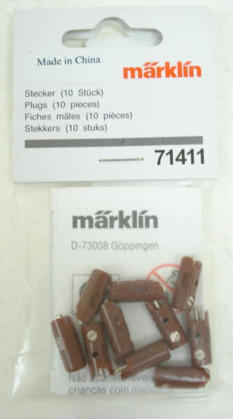 Marklin 71411 Brown Plugs (Pack of 10)