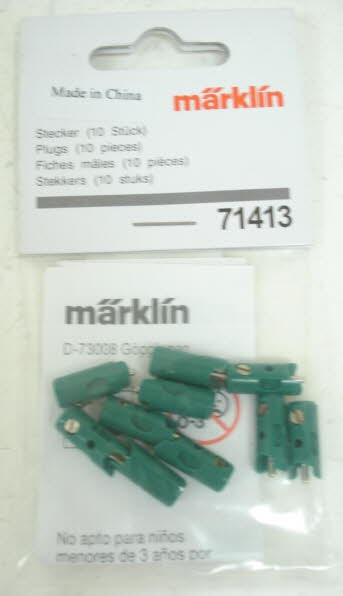 Marklin 71413 Green Plugs (Pack of 10)