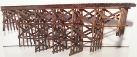 JV Models 4014 O Bridge Timber Trestle Builds up to 16 x 18""