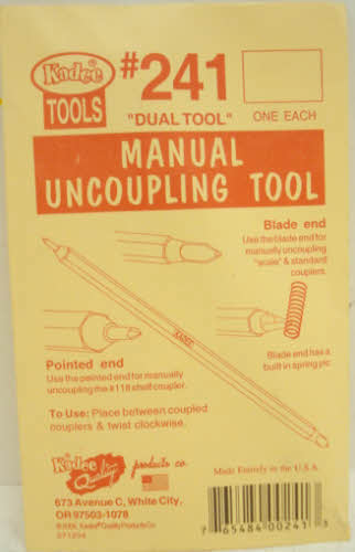 Kadee 241 Manual Uncoupling Tool and Spring Pic
