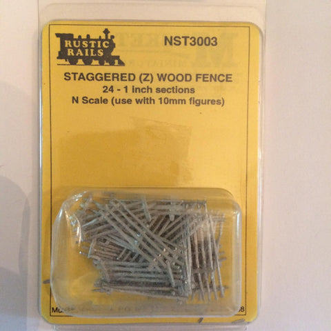Rustic Rails NST3003 N Resin Staggered Wood Fence (24)