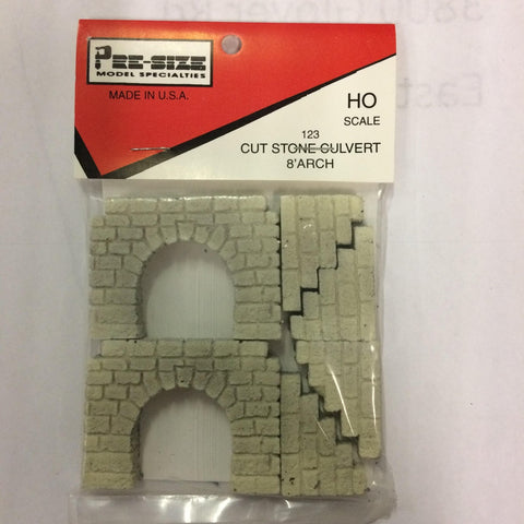 Pre-Size Model Specialities 483-123 HO Scale Culverts Cut Stone, 8' Arch