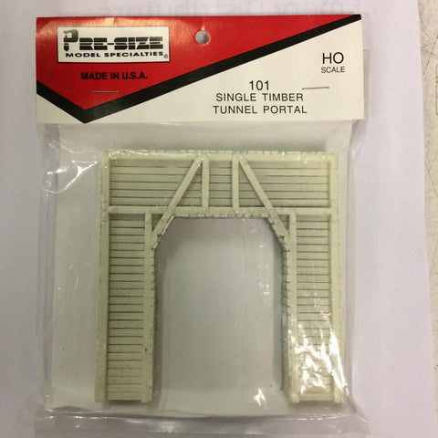 Pre-Size Model Specialities 483-101 HO Scale Tunnel Portal - Single Track Timber