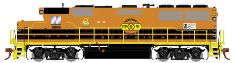 Athearn G65702 HO GP50 Phase 1, TP&W/Orange & Black #5009