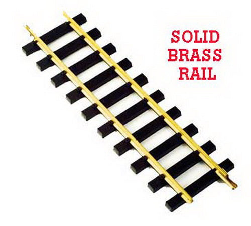 "USA Trains R81000 12"" Brass Rail Straight Track"