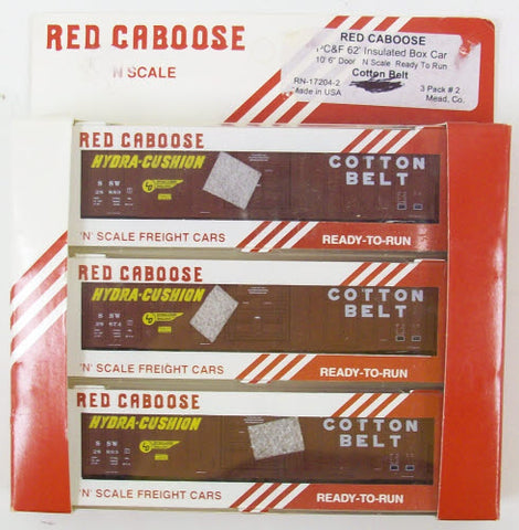 Red Caboose 17204 Cotton Belt Boxcars (3)