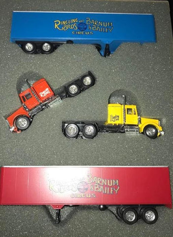 Ak-Sar-Ben 6 HO Ringling Bros & Barnum & Bailey Circus Trucks with Trailers