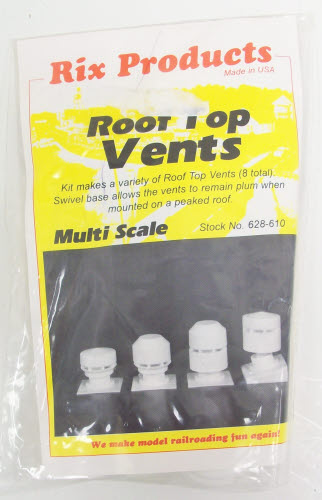 Rix Products 628-0610 Multi Scale Rooftop Vents (Pack of 8)