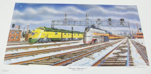 Robert West 225 Milwaukee Chicago Departure I Railroad Art Print Artist Proof