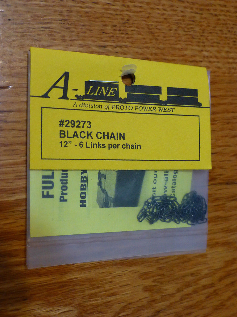 A-Line 29273 HO Tie Down Chain - Black 6 Links Per Inch