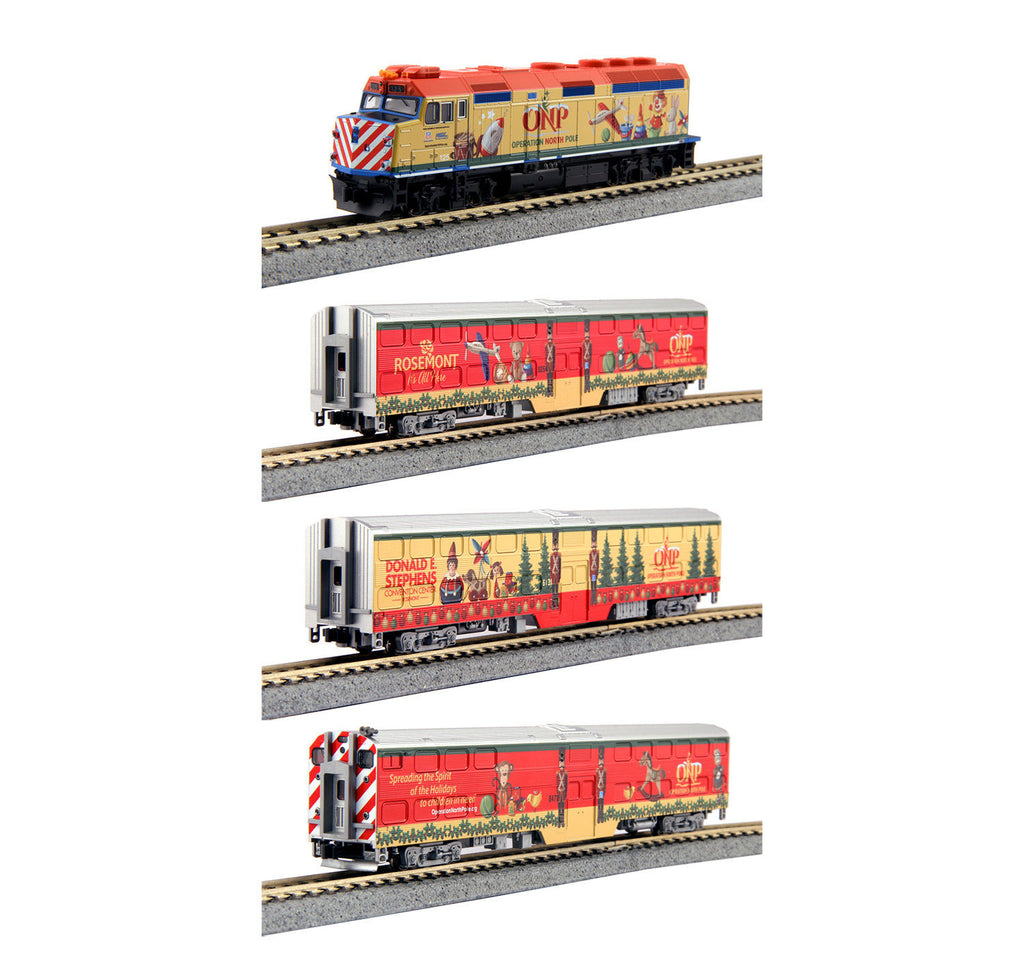 Kato 106-2015 N Operation North Pole Christmas Train Set