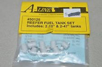 A-Line 50125 HO Reefer Fuel Tank Set, Long & Short (4)