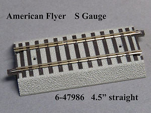 "American Flyer 6-47986 4.5"" S Gauge FasTrack Straight Track Section"
