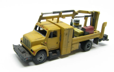 Showcase Miniatures 49 N Type MOW w/ Material Handling Crane Unpainted Metal Kit